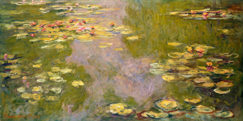 Image of Monet Water Lillies painting