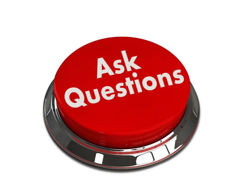 "Image of an ""ask questions"" button"