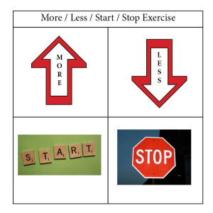 More less stop start