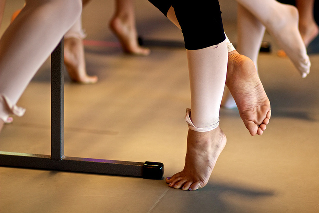 Image of dancer's bare feet