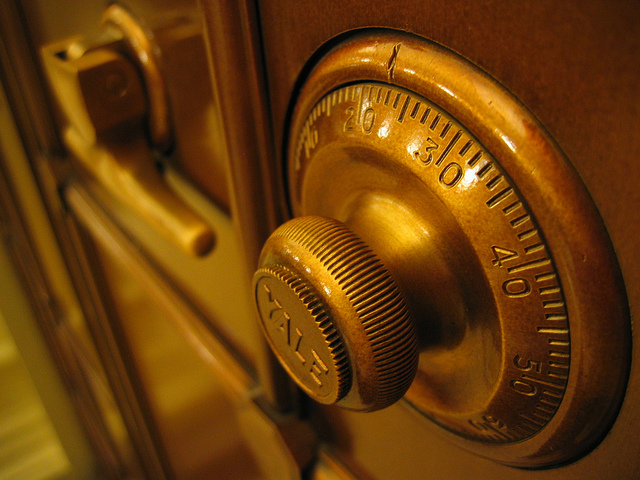 Image of a combination lock