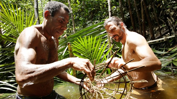Image of men in the jungle