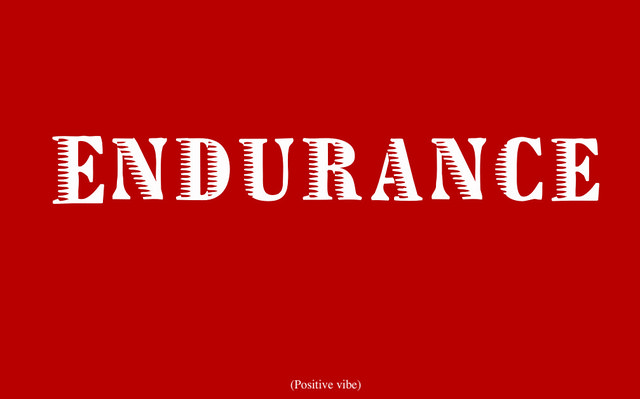 "Image of the word ""endurance"""