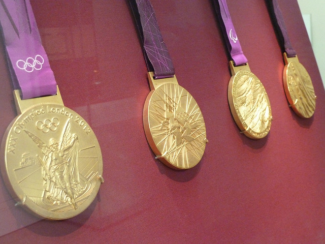 Image of Olympic Gold Medals. Believing in you
