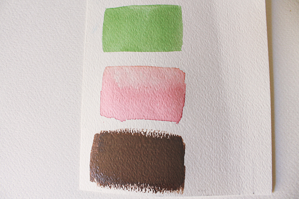 image of art paper with three color bars