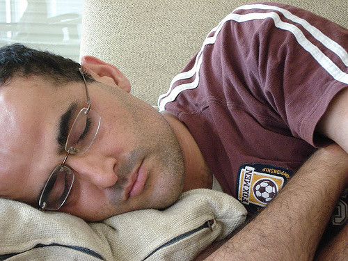 Image of sleeping man