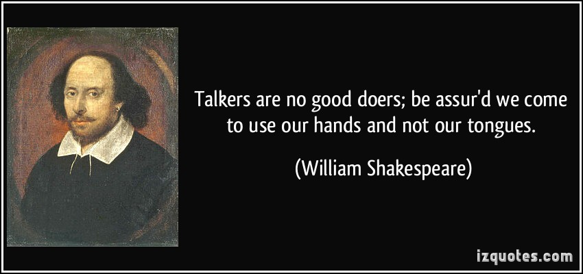 Image of Shakespeare with the quote