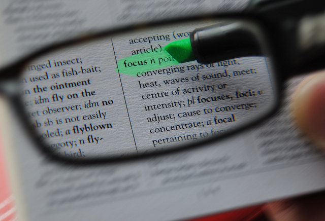 "Image of a dictionary with ""focus"" highlighted"