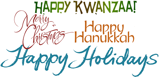 Image of Banner with multiple Winter Holidays