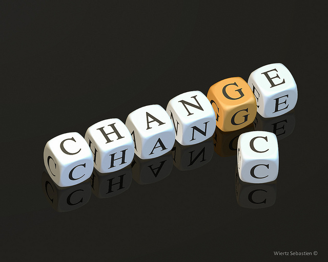 "Dice spelling ""change"""
