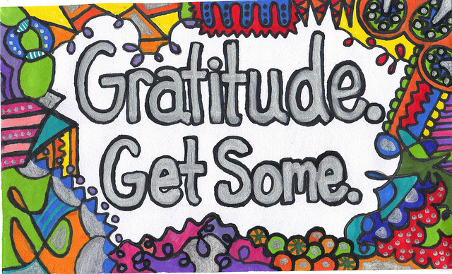 """Image of poster saying """"Gratitude. Get Some"""""""
