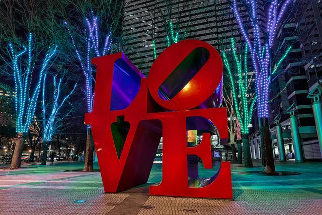 Image of LOVE statue