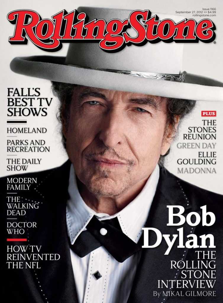 Image of Bob Dylan on the cover of Rolling Stone