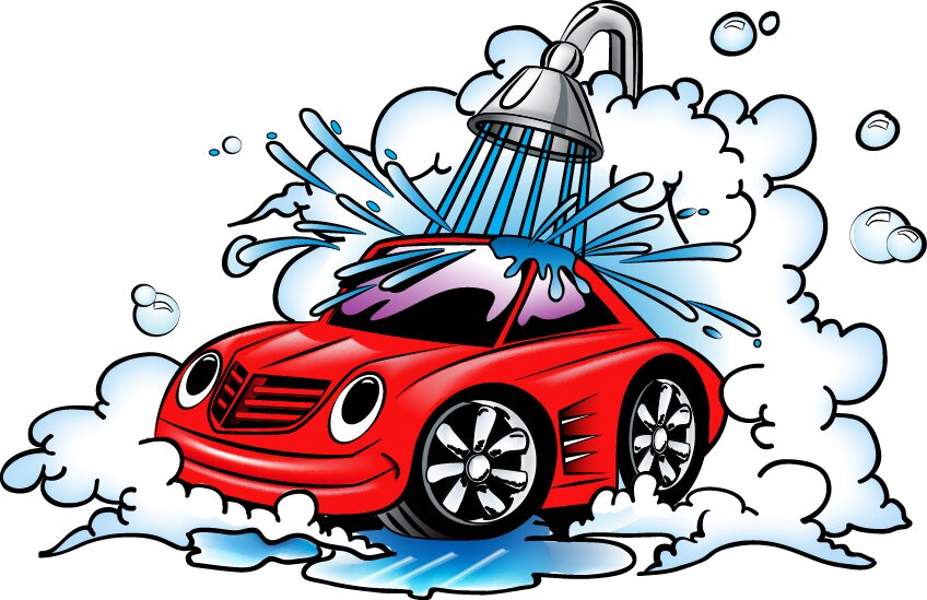 Image of a car in the shower