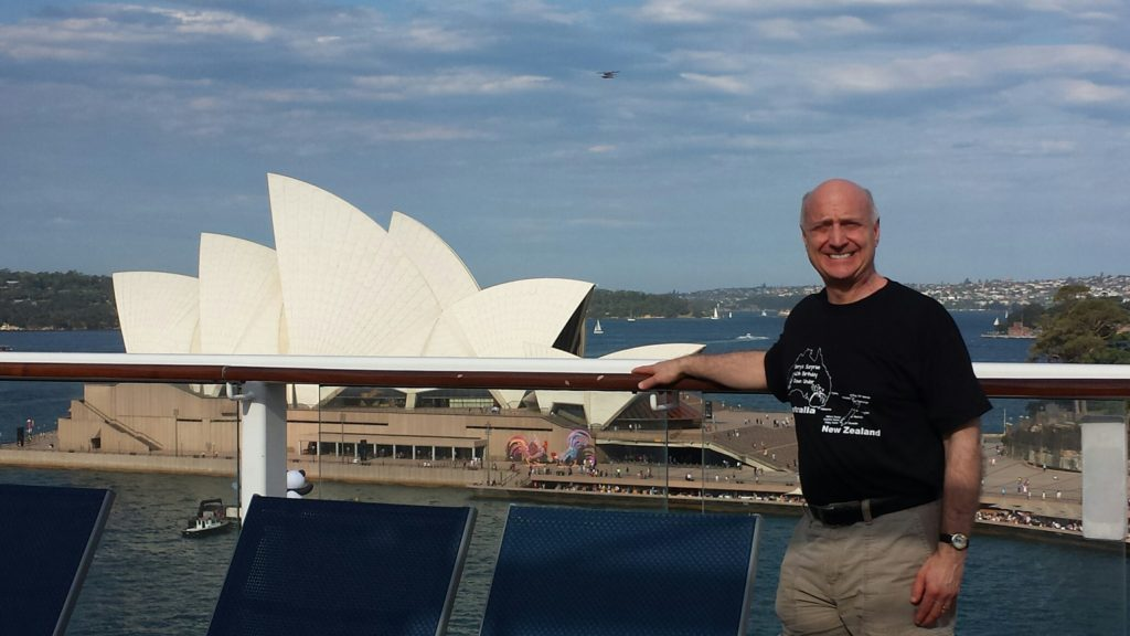 Image of Barry on the bridge overlooking the Sydney Opera House