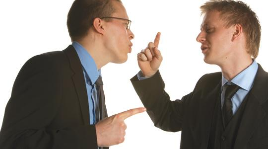 Image of two men arguing
