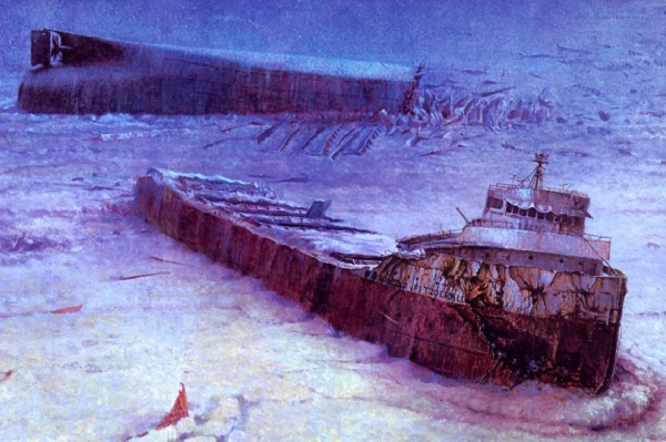 Image of the wrecked SS Edumund Fitzgerald