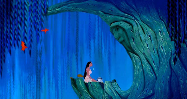 Image of Pocahontas with Grandmother Willow
