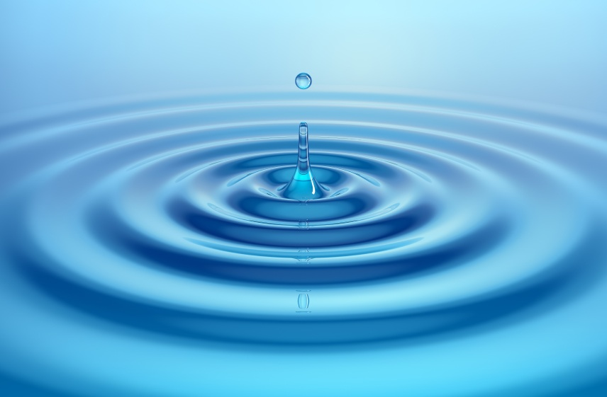 Image of ripple in a pond