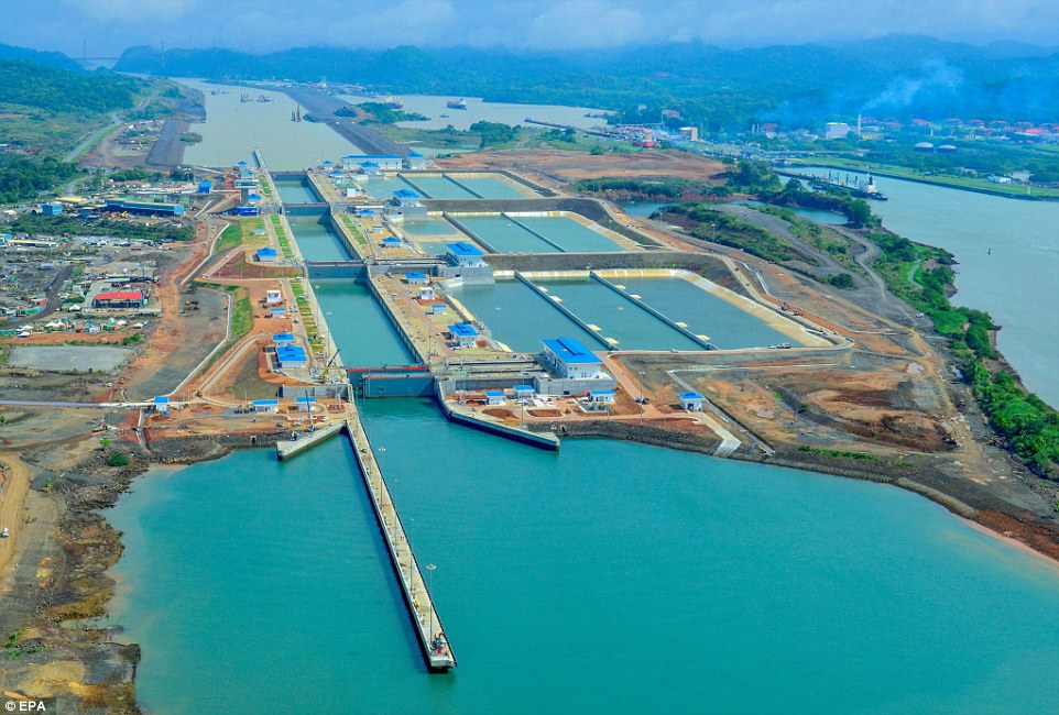Image of the new Panama Canal