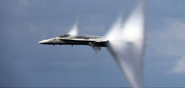 Image of a jet breaking the sound barrier