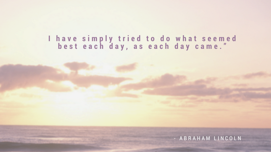 image of the ocean with today's quote superimposed