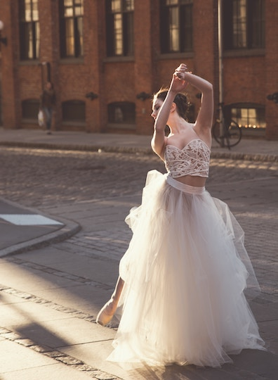 Image of a Ballerina on a City Street