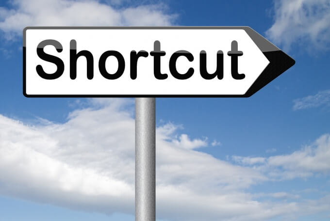 "Image of a ""shortcut"" sign"