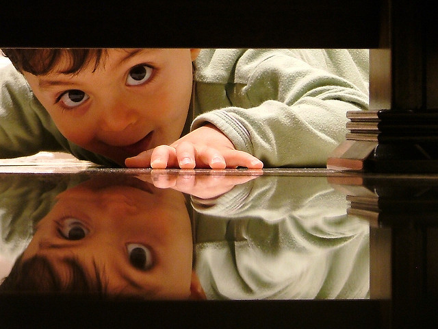 Image of a boy curiosity