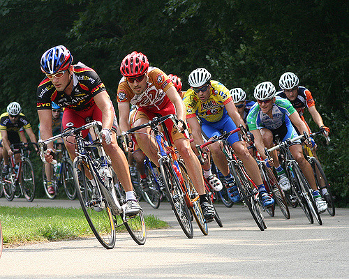 Image of a bicycle race
