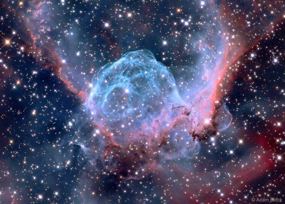 Image of Thor's Helmet Emission Nebula