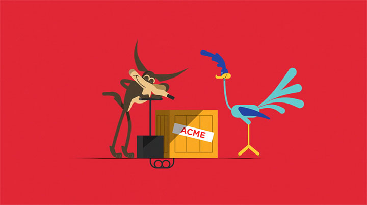 Image of Wile E. Coyote and the Road Runner