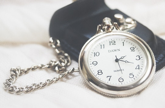 Image of a silver pocket watch