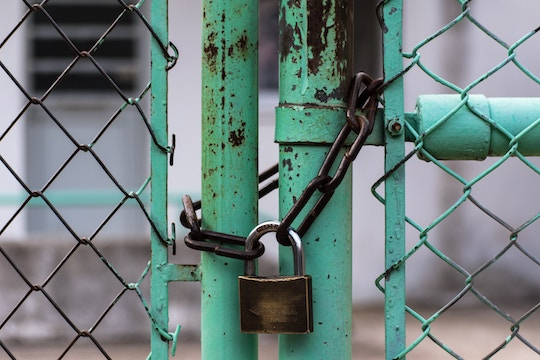 Image of a locked fence