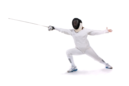 Image of a person in a fencing pose