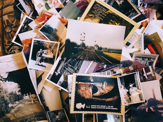 Image of a drawer full of photographs