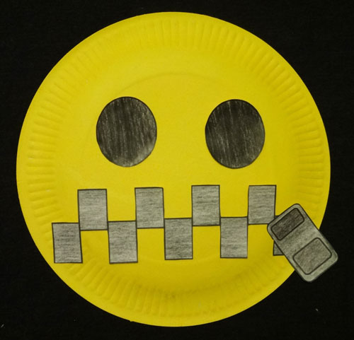 Image of a smiley face zippered