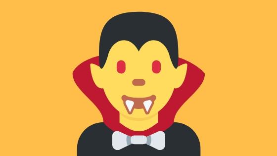Cartoon of a Vampire