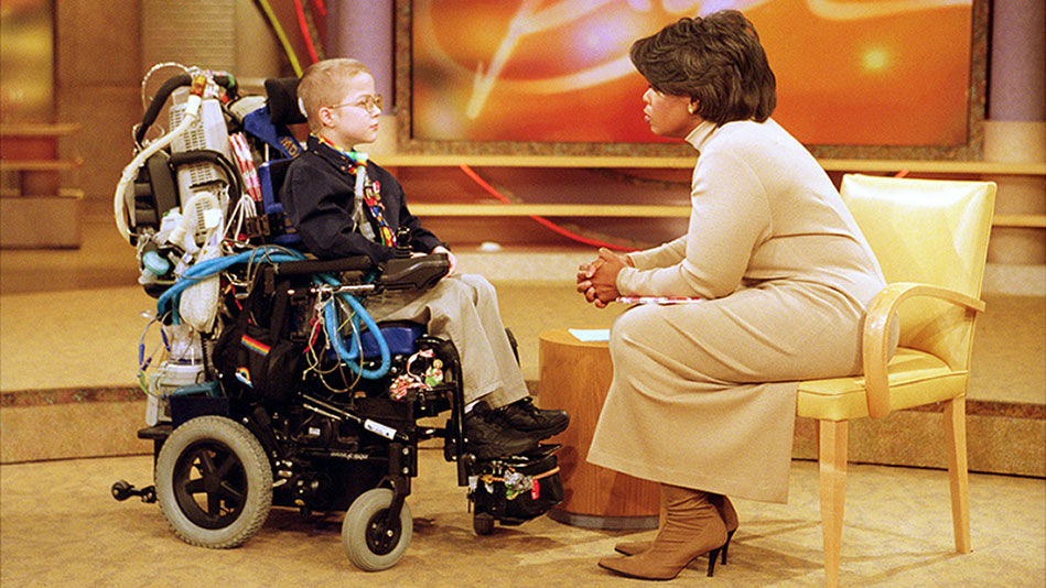 image of Mattie Stepanek with Oprah Winfrey