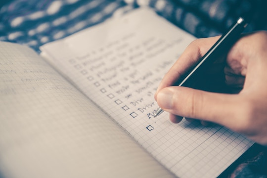 Image of a notebook with a checklist