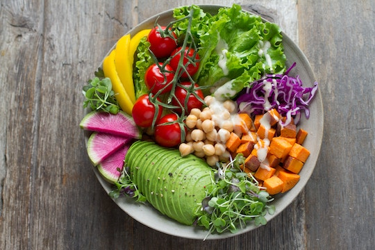 Image of a plate full of fresh veggies