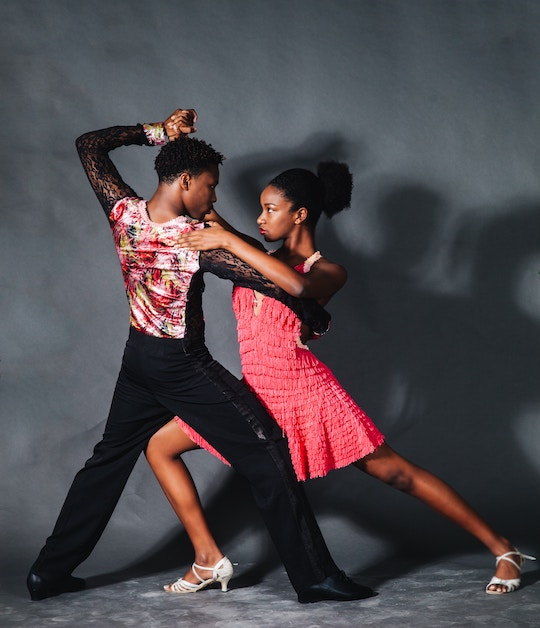 Image of a couple doing latin dance