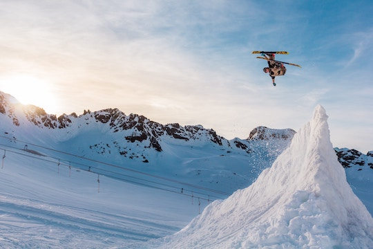Image of a skier doing an aerial jump