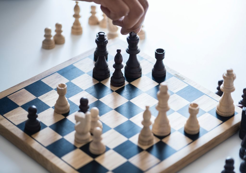 Image of a chess game in progress