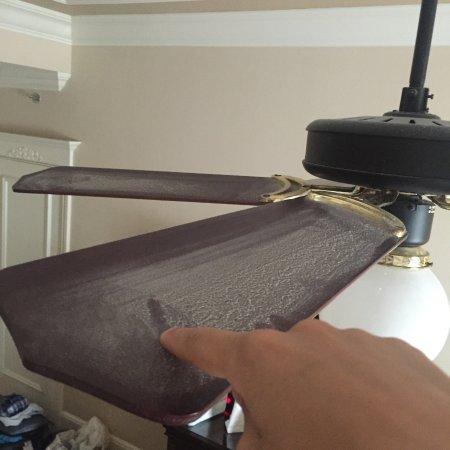 Image of a dusty ceiling fan