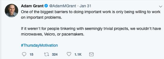 Image of Adam Grant's tweet