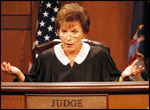 Image of Judge Judy on the bench