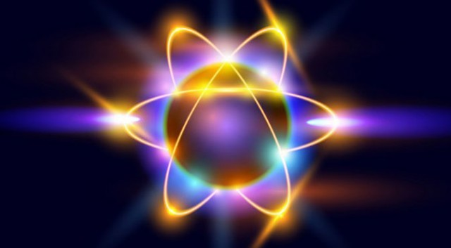Image of excited electrons