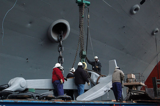 Image of the USS Nimitz anchor